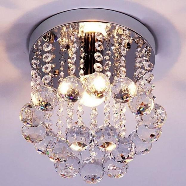 moderna lmpara con acabados de cristal