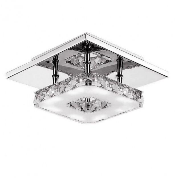 L mpara moderna de techo de cristal l mparas de techo - Lamparas de cristal para techo ...