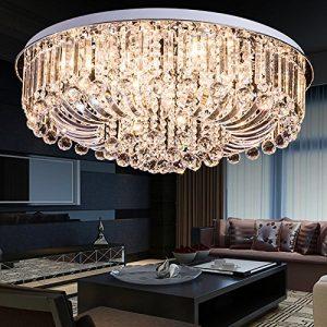 Lámpara de techo de cristal moderna