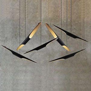 Lámpara de techo tubo de aluminio minimalista