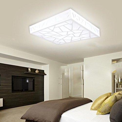 lmpara de techo moderna led cuadrada - Lamparas Modernas De Techo