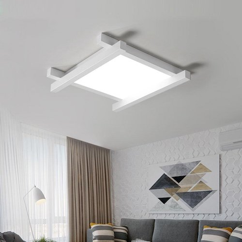 Lampara de techo moderna para salon minimalista lamparas de techo lampara negra minimalista Lamparas techo salon