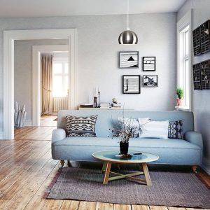 Lámpara techo colgante color cromo mate