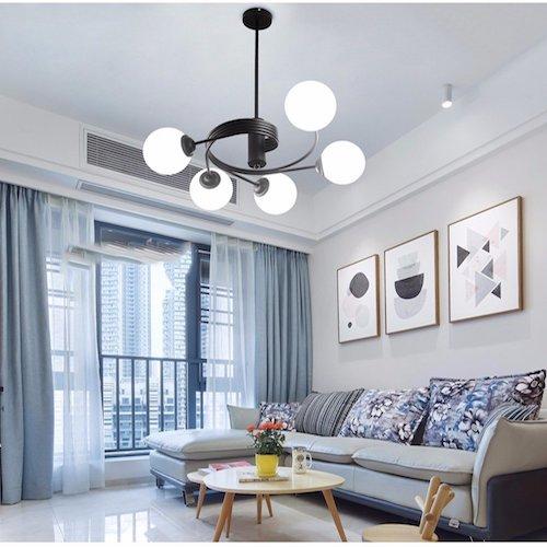 Lámparas de techo modernas de comedor