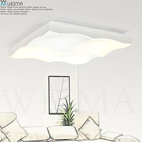 L mpara de techo moderna para sal n minimalista l mparas - Lamparas minimalistas de techo ...