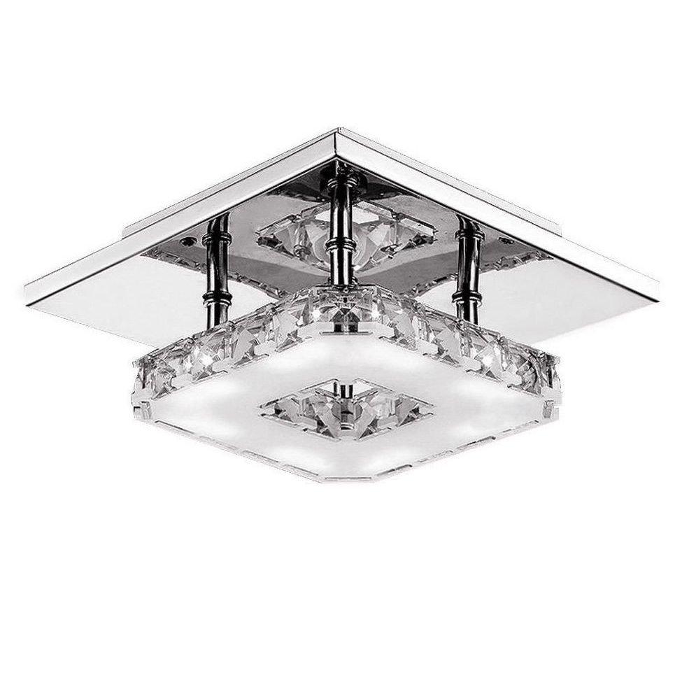 lampara moderna techo de cristal