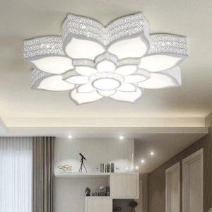 Lámpara de techo LED flor de cristal