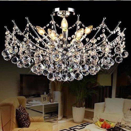 Lámpara de techo de cristal de araña moderna