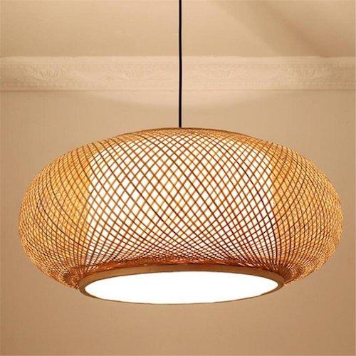Lámpara de techo japonesa circular