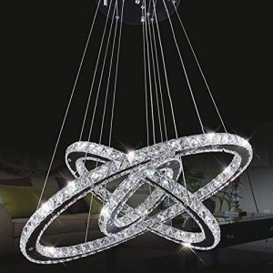 Lámpara de techo araña de cristal colgante
