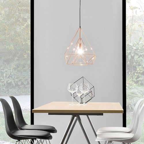 Lámpara de techo moderna metal look