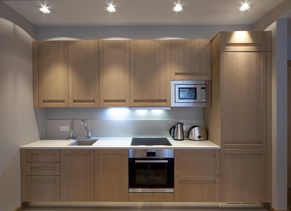 iluminar una cocina pequeña